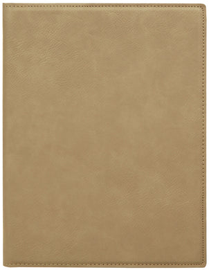 Light Brown Laserable Leatherette Small Portfolio with Notepad