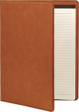 Rawhide Laserable Leatherette Portfolio with Notepad
