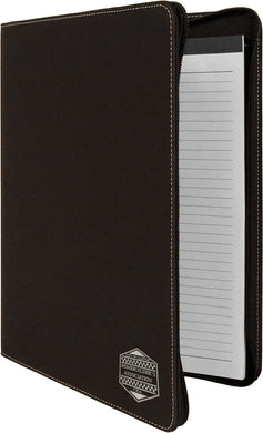 Black-Silver Portfolio with Zipper and Notepad