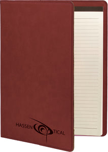 Rose Laserable Leatherette Small Portfolio with Notepad
