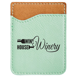 Teal Laserable Leatherette Phone Wallet