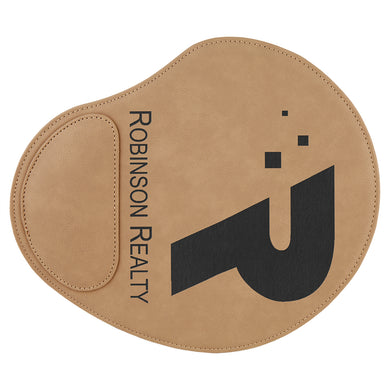 Light Brown Laserable Leatherette Mouse Pad