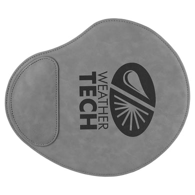 Gray Laserable Leatherette Mouse Pad