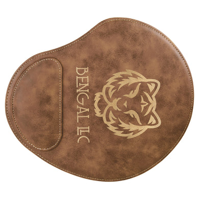 Rustic Gold Laserable Leatherette Mouse Pad