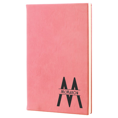Pink Laserable Leatherette Journal