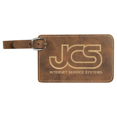Rustic Gold Laserable Leatherette Luggage Tag