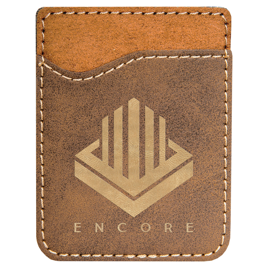 Rustic-Gold Laserable Leatherette Phone Wallet