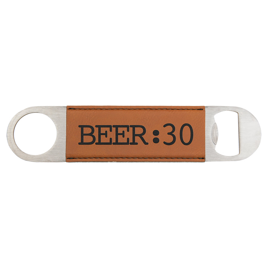 Rawhide Laserable Leatherette Bottle Opener