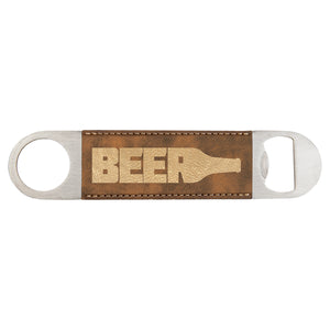 Rustic-Gold Laserable Leatherette Bottle Opener