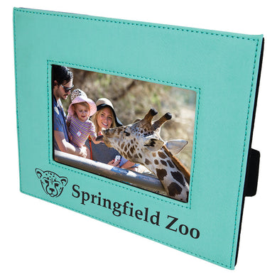 4x6 Teal Laserable Leatherette Photo Frame