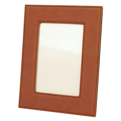 5x7 Rawhide Laserable Leatherette Photo Frame