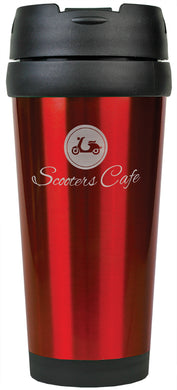 16 oz. Red Laserable Stainless Steel Travel Mug