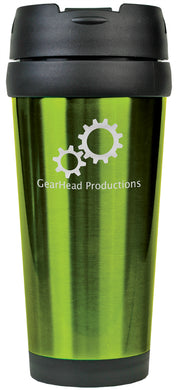 16 oz. Green Laserable Stainless Steel Travel Mug