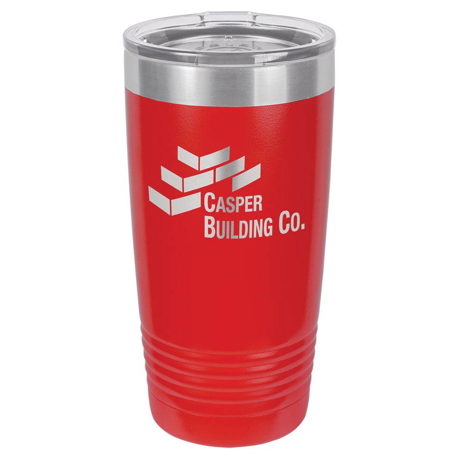 20oz. Polar Camel Red Ringneck Vacuum Insulated Tumbler