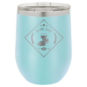 12 oz. Polar Camel Matte Light Blue Stemless Wine Glass