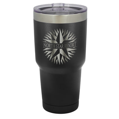 30 oz. Polar Camel Black Vacuum Insulated Tumbler with Silver Ring