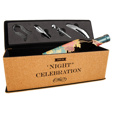 Cork Single Wine Box with Tools