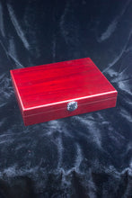 Load image into Gallery viewer, 6 oz. Stainless Steel Flask Set in Wood Presentation Box