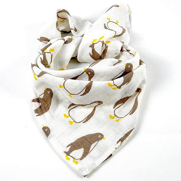2 Pack Penguin Organic Cotton Muslin Squares