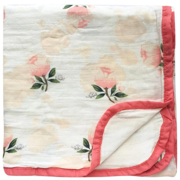 Four Layer Floral Cotton Blanket