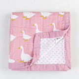 Four Layer Organic Cotton Goose Blanket