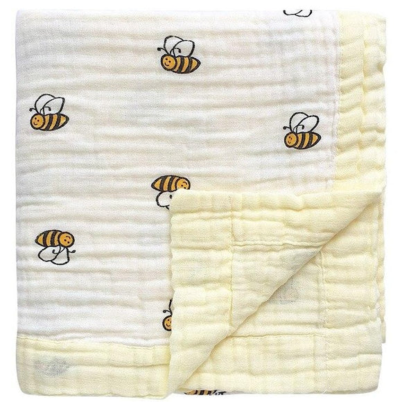 Four Layer Bee Cotton Blanket