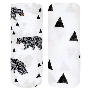 2 Pack Extra Large Bear Bamboo Muslins