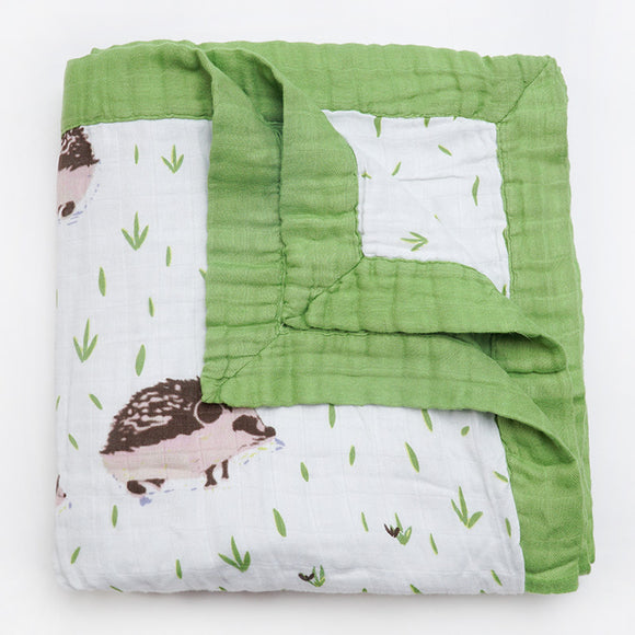 Four Layer Hedgehog Bamboo Blanket