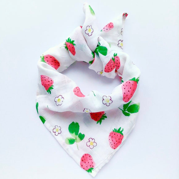 2 Pack Strawberry Bamboo Muslin Squares