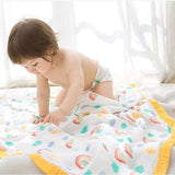 Four Layer Rainbow Bamboo Blanket