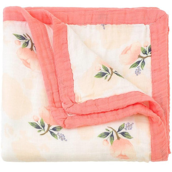 Four Layer Floral Bamboo Blanket