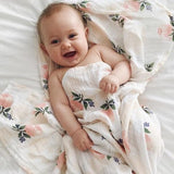 Extra Large Floral Cotton Muslin
