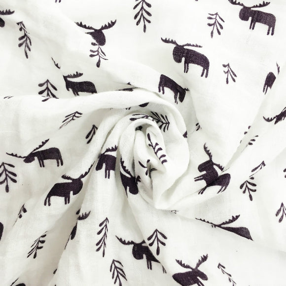 Extra Large Moose Cotton Muslin