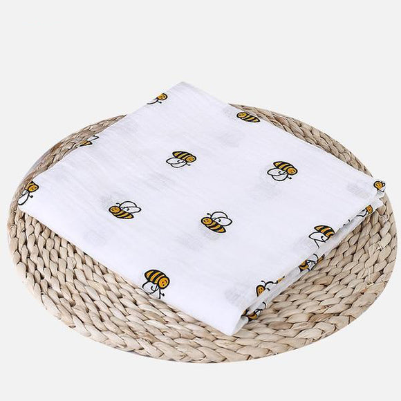 Extra Large Bee Cotton Muslin