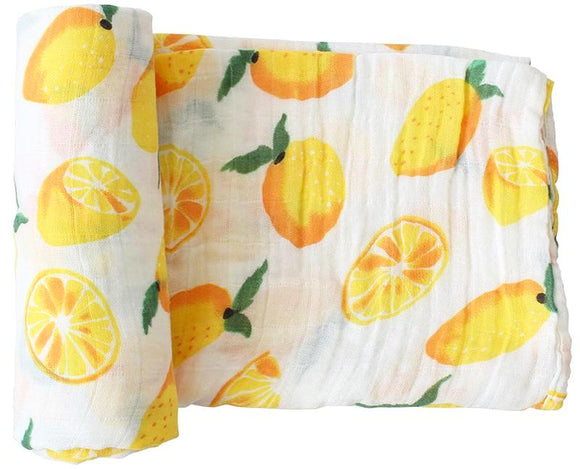 Extra Large Lemon Cotton Muslin