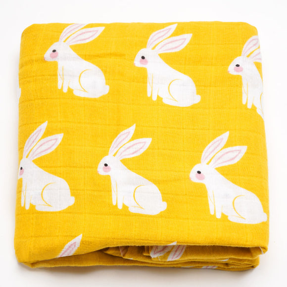 Organic Extra Large Rabbit Cotton Muslin