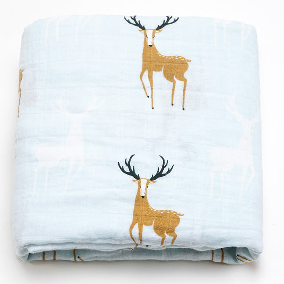 Extra Large Organic Cotton Stag Muslin