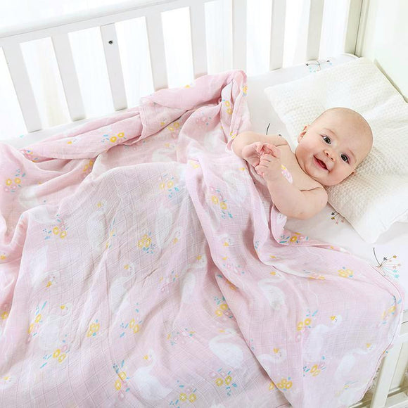 Extra Large Swan Bamboo Muslin