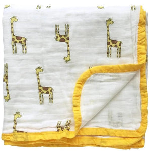 Four Layer Giraffe Cotton Blanket