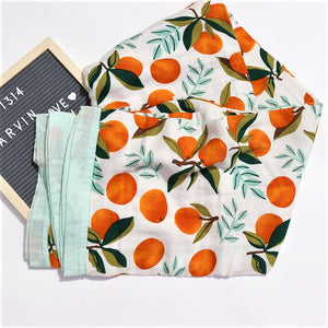 Four Layer Orange Bamboo Blanket