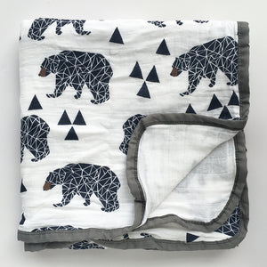 Four Layer Bear Cotton Blanket