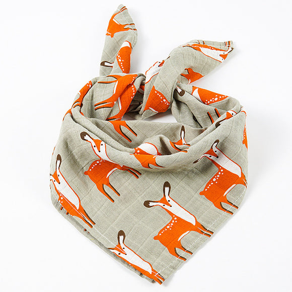 2 Pack Deer Organic Cotton Muslin Squares