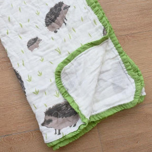 Four Layer Hedgehog Cotton Blanket