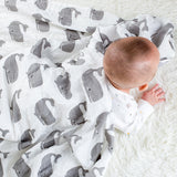 Four Layer Organic Cotton Whale Blanket