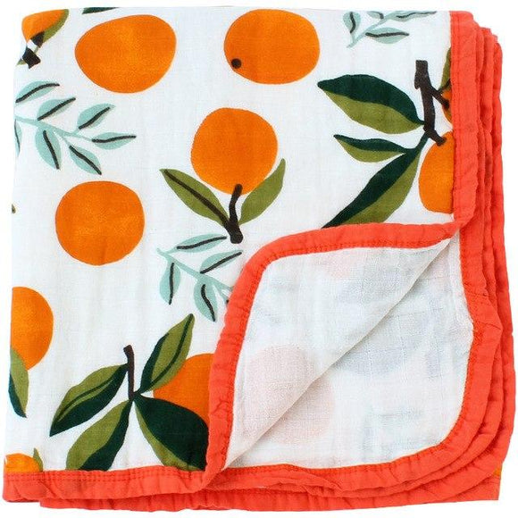 Four Layer Orange Cotton Blanket