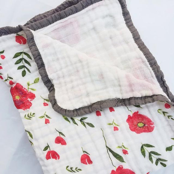 Four Layer Poppy Cotton Blanket