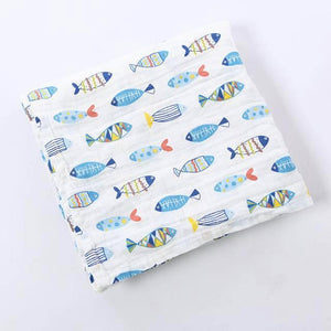 Extra Large Fish Cotton Muslin