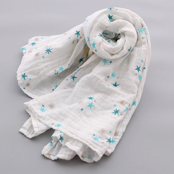 Extra Large Star Cotton Muslin