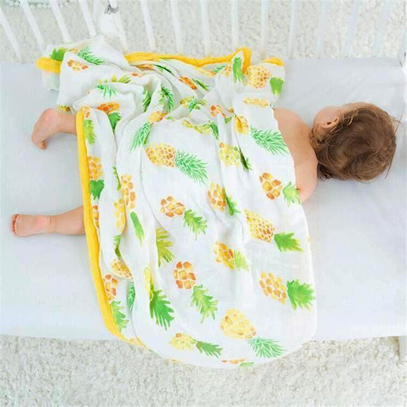 Four Layer Pineapple Bamboo Blanket