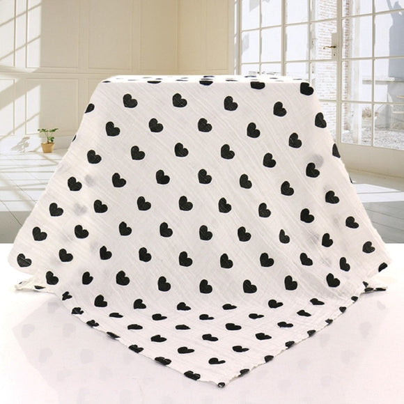 Extra Large Heart Cotton Muslin